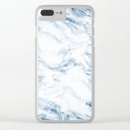 Marble I Clear iPhone Case