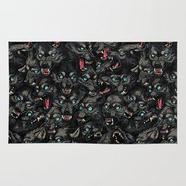Wolf Pack Pattern Rug