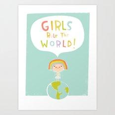 Girls Rule Art Print