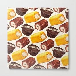Hostess Cake Pattern Metal Print