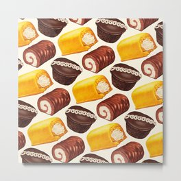 Hostess Cake Pattern Metal Print