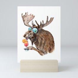 Moose on Vacation Mini Art Print