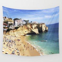 Praia de Carvoeiro, Algarve, Portugal - Deep blue waters Wall Tapestry