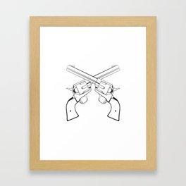 Crossed Colts Framed Art Print