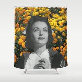 Miss Marigold Shower Curtain