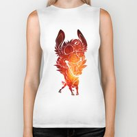 anxiety Biker Tanks featuring Summertime Anxiety  by DirtyMongrel