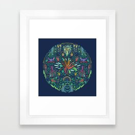 Tropical garden Framed Art Print