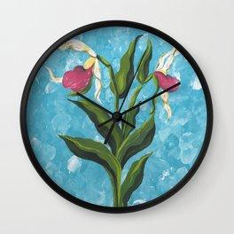 Lady Slipper 1 Wall Clock