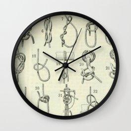 Vintage Knots Chart Wall Clock