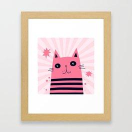 Dreaming Kitty Framed Art Print