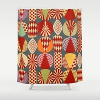 blankets Shower Curtains featuring christmas tree MINIMALIST by Chicca Besso