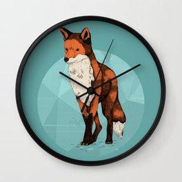 Ice Fox  Wall Clock
