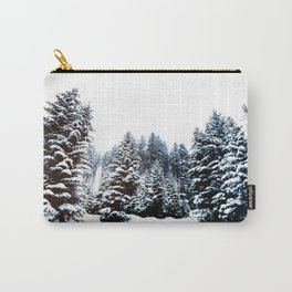 Snowy Winter Forest Carry-All Pouch