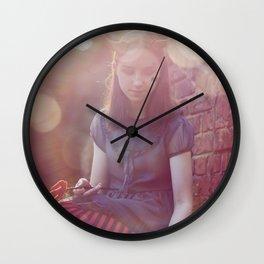 Halloween girl dressed as devil Wall Clock
