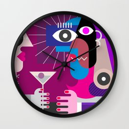 A Woman With a Cocktail Wall Clock