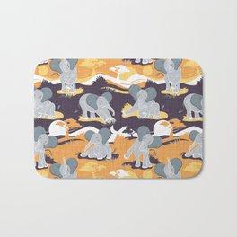 Baby African elephants joy night and day // yellow mustard Bath Mat