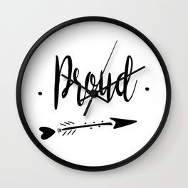 Proud Lettering-PM coll Wall Clock