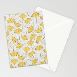 Ginkgo Pattern Stationery Cards
