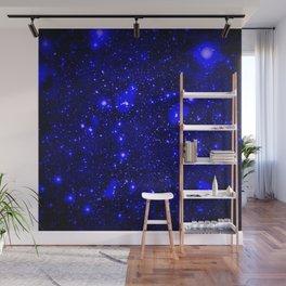 Dark Matter Galaxy Blue Wall Mural