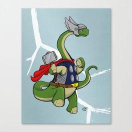 "Bronto""THOR""us - God of Thunder Lizards Canvas Print"