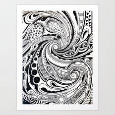 Swirl Away Art Print