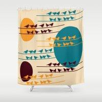 birdy Shower Curtains featuring birdy by BruxaMagica_susycosta