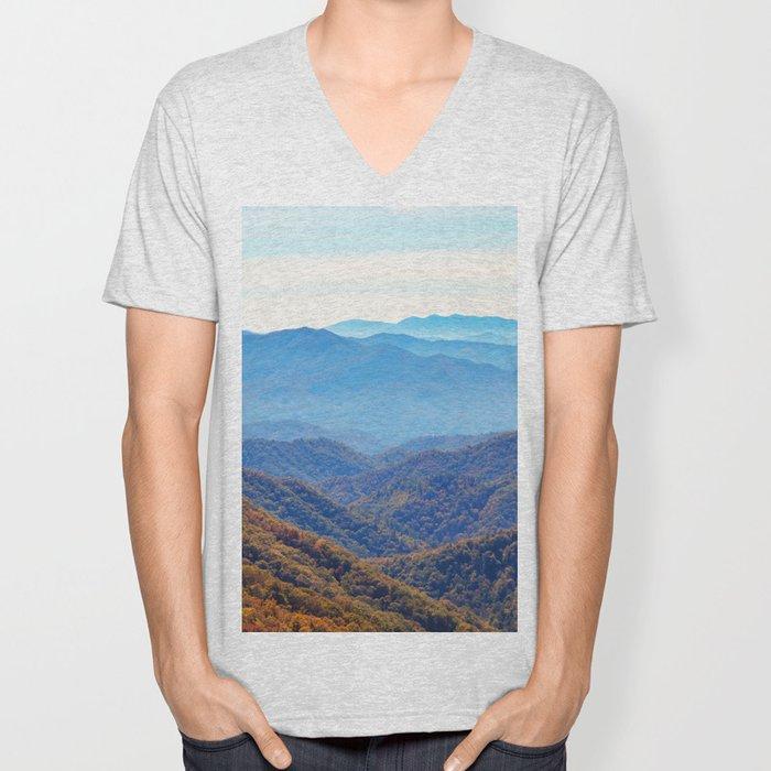 Smoky Mountain Layers Unisex V-Neck