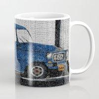 cuba Mugs featuring Cuba Car by Sartoris ART