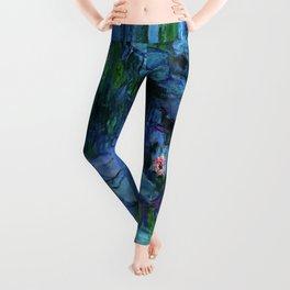 Claude Monet Water Lilies / Nymphéas deep Leggings