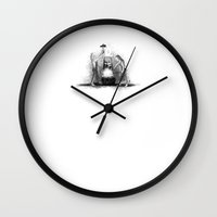 smiths Wall Clocks featuring Iron smiths by Jake Powning