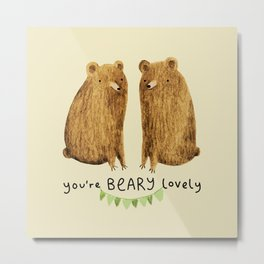 Beary Lovely Metal Print