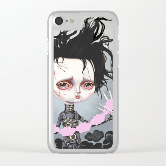 Edward Scissorhands Is Sad Clear iPhone Case