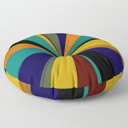 Deep Primary Ray Floor Pillow