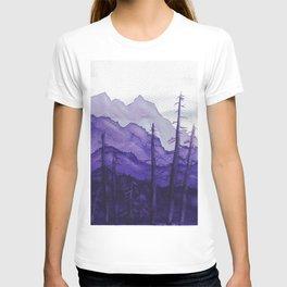 Tonal Mountain Study 2 Purple T-shirt