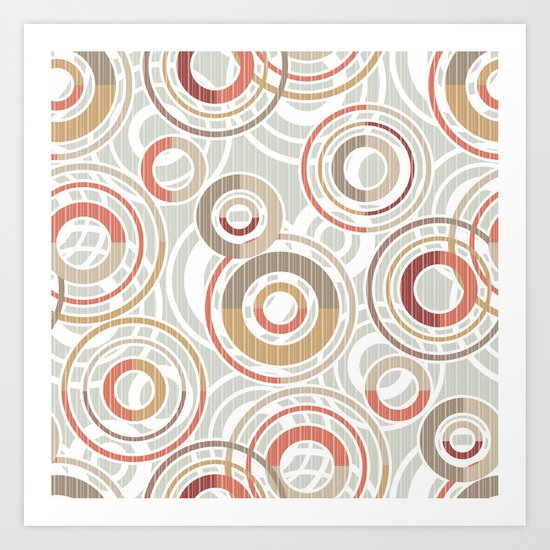 Abstraction.Circles and rings. Art Print