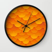 goldfish Wall Clocks featuring Goldfish by Screen Candy