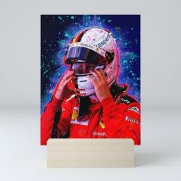 Sebastian Vettel racer Mini Art Print