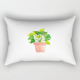 Bare Root Philodendron Brazil/Pothos Plant Rectangular Pillow