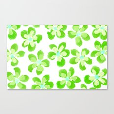 Posey Power - Electric Lime Multi Canvas Print