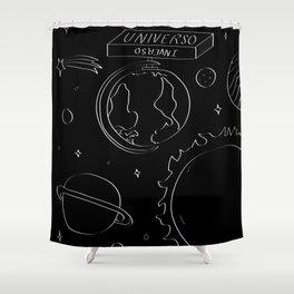 Universo Inverso Shower Curtain
