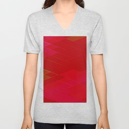 Re-Created Vertices No. 21 by Robert S. Lee Unisex V-Neck