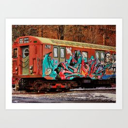 8th Ave Concourse Trolley Art Print