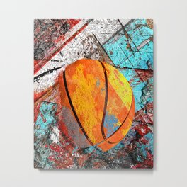Basketball artwork swoosh 57 : basketball artist takumipark Metal Print