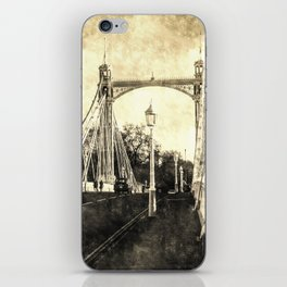 The Albert Bridge London Vintage iPhone Skin