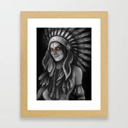 Tribe Girl Framed Art Print
