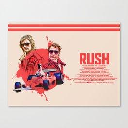 Rush (2013) Long Alternative Movie Poster Canvas Print