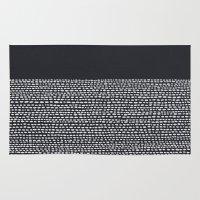 georgiana paraschiv Area & Throw Rugs featuring Riverside (Black) by Jacqueline Maldonado