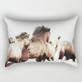 WILD AND FREE 2 - HORSES OF ICELAND Rectangular Pillow
