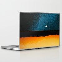 moon phase Laptop & iPad Skins featuring New Moon - Phase II by Marina Kanavaki