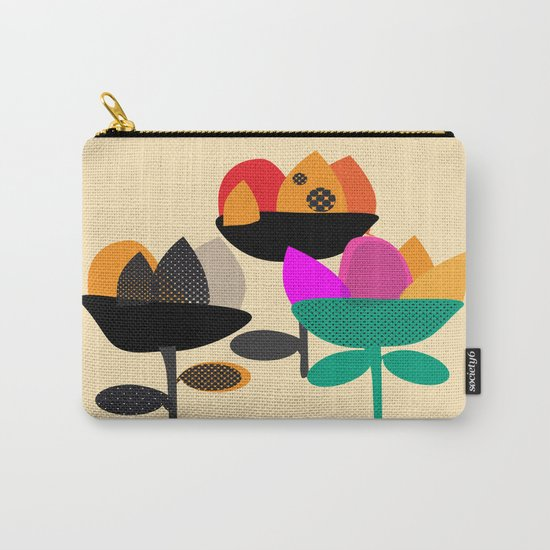 Three Flowers Carry-All Pouch